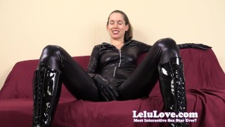 Financially dominating and cuckolding you in my catsuit  point of view homemade tease cuckolding hd humiliation femdom amateur solo pov fetish domination lelulove brunette lipstick natural tits catsuit lelu love