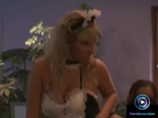 Ginger Jones and Maria Belucci making love behind the scenes