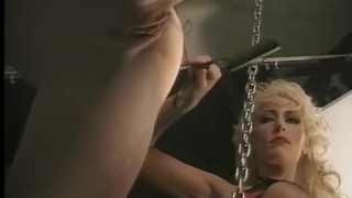 Preview 1 of Sexy long haired slave meets the flogger for the first time