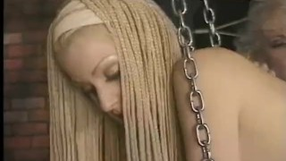 Preview 2 of Sexy long haired slave meets the flogger for the first time