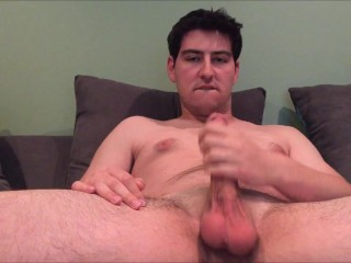 Big cock jerkoff and cumshot