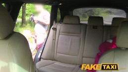 FakeTaxi Horny teen has outdoor sex