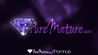 PureMature - Brunette Brooklyn Chase sucks and fucks her mans dick