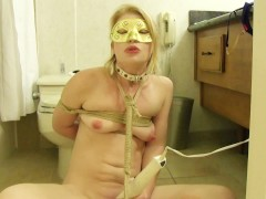 Blonde fetish beauty Madison Young nipple clamps and toys pussy