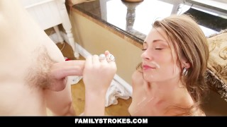 FamilyStrokes - 4th Of July BBQ Turns Into Sibling Fuckfest  step-siblings babe step-brother cumshot hardcore smalltits brunette cowgirl familystrokes step-sister shaved facialize bigcock facial doggystyle kristen lee