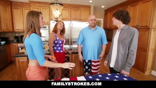 FamilyStrokes - 4th Of July BBQ Turns Into Sibling Fuckfest step-siblings hardcore babe shaved cumshot step-brother smalltits kristen lee brunette cowgirl familystrokes facialize bigcock step-sister facial doggystyle