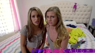 Brother and little sister share tiny teen in threesome  very-young-teen step-brother step-siblings-caught blowjob tiny-teen pov hard-fast-fuck teen-creampie step-sister kimmy-granger deepthroat threesome small-tits step-sister-caught sydney-cole exxxtra-small
