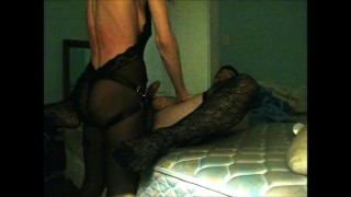 Kinky Couple in Lingerie Use Strapon  strapon guy strap on strapon cum ass fuck amateur wife strapon femdom strapon pegging strapon crossdresser femdom mom mother wife strapon husband pegging amateur adult toys pegging cum