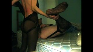 Kinky Couple in Lingerie Use Strapon  strapon guy strap on strapon cum ass fuck amateur wife strapon wife strapon husband femdom strapon pegging strapon crossdresser femdom mom mother pegging amateur adult toys pegging cum