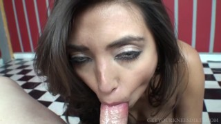 Preview 4 of Sexy Latina Frida Sante sucks you off and begs for your cum - POV