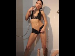 Latex Shower Tease