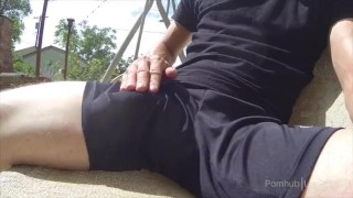 Preview 6 of Cumshot in athletic shorts