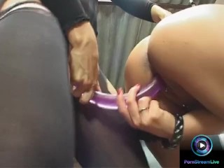 Adventurous Ginger Jones and Dorothy Black eager to use a long dildo