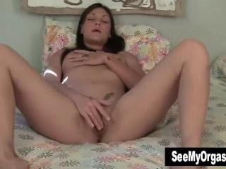 Pierced Olivia Masturbating For Big Orgasm