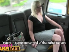 FemaleFakeTaxi Lesbians have pussy licking wrestle fun in back of taxi