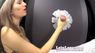 Lelu Love-Gloryhole Blowjob Cumshot In YOUR Face  homemade hd amateur blowjob cumshot fetish domination hardcore handjob brunette lelu natural tits bisexual femdom feminization closeups lelu love