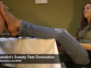 Cassandra's Sweaty Feet Domination - www.clips4sale.com/8983/15844880