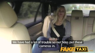 FakeTaxi Big tits and great curvy body sucks dick  point of view big cock blowjob amateur blonde public pov camera faketaxi spycam reality czech dogging big boobs prague taxi