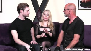 Pegging with Mike Panic pegging strapon bdsm pegging femdom pegging natural tits femdom strapon