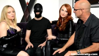 FemDom with Kendra James and Aiden Starr bdsm female domination femdom natural tits jay wimp