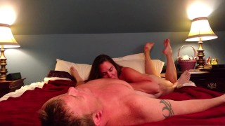 Preview 1 of Slut fucks her man and takes facial like the whore she is...