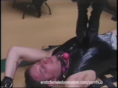 Two sexy bitches have some kinky fun with a horny dude