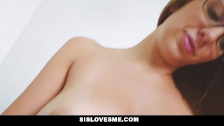 SisLovesMe - Big Tit Step Sis Asking For More  sloppy natural glasses layla-london point-of-view cumshot tattoo busty brunette pierced step-sister step-bro sislovesme facialize facial