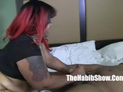 phat booty bbw ms giggles banged by lil kim chi and henesey