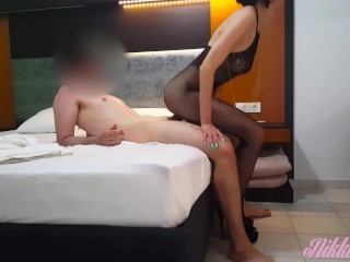 Crazy Babe Audition Evidence Nikki Fucked in Fishnet Unmentionables til he covers her pussy with cum-Holiday#1