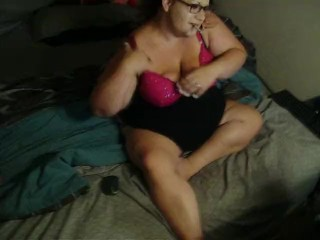 Smoking with kitty play and spread cam show