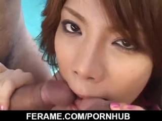 Sara Nakamura amazing outdoor Asian group bang