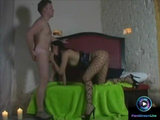 Great cock sucking and balls licking action from Angela Winter