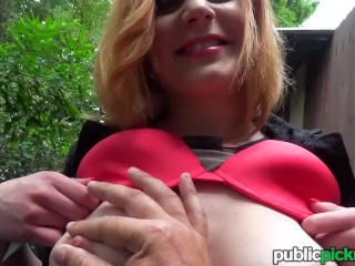 Mofos - Ryta - Eager Babe Flashes Big Natural Tits