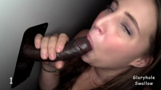 Penny 1st Time Gloryhole  interracial virgin big black cock gloryhole swallow monster cock bbw blowjobs random strangers cum swallow strangers gloryhole first time cum slut glory hole anonymous cum in mouth adult bookstore first black cock