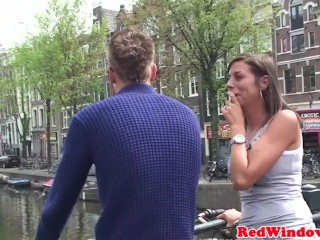 Dutch hooker doggystyled after blowjob