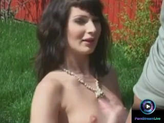 Electra Angel uses her hands and perky tits to make her lover cum