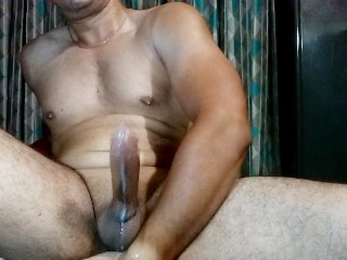 Fingering ass and blowing huge load