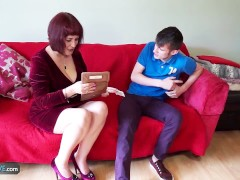 Mature chubby Christina and Sam Bourne together by AgedLove
