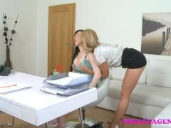 FemaleAgent Busty student has an amazing orgasm