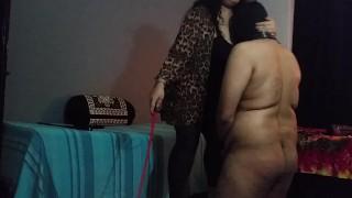 BBW Mistress Makali Smothers loser with Her massive tits big-boobs indian-bbw indian-femdom cfnm-humiliation femdom