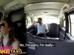 FemaleFakeTaxi Sexy Cabbie in stunning red dress fucks her passenger
