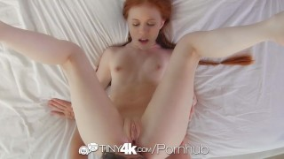 Tiny4K - Tiny redhead Dolly Little has her dripping wet fire crotch fucked