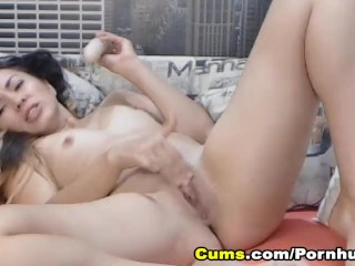 Sexy Chick Strips and Fucks her Tight Pussy
