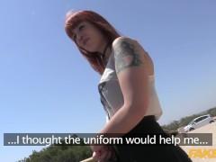 Fake Cop Shy Spanish Redhead fucks a British policeman