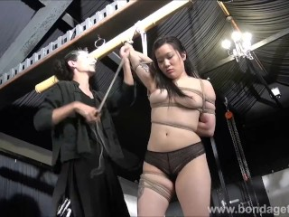 Devils asian suspension bondage and kinky fetish of tied up japanese beauty