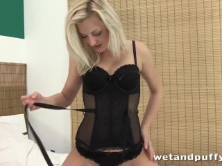 Super sexy lady in black Katy Rose