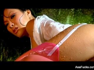 Erotic fucking with a soaking wet Asa Akira