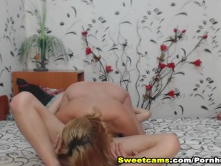 Two Hot Babes Fingering and Eating Each Other Pussy