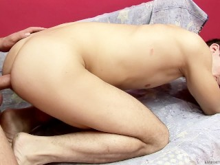 Hot white chick takes big black dick up her ass