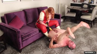 Anal Punishment - Pegging strap on femdom sissy sluts Julie Simone fetish redhead mother pegging femdom anal kink mom female-supremacy
